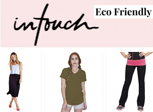 Collection of organic cotton and bamboo fitness apparel and casual wear.