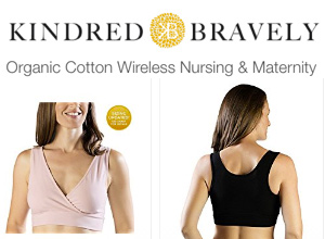 Extra soft organic cotton wireless nursing & maternity sleep bras.