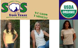 SOS Texas Certified Organic Cotton Clothing